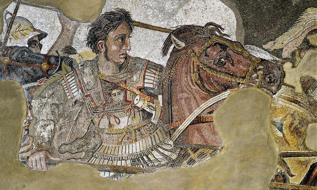 Alexander the Great depicted in a mosaic depicting Battle of Issus. Photograph: De Agostini/Getty Images