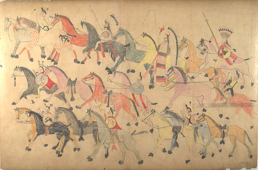 The Battle of Little Bighorn, An Eyewitness Account by the Lakota Chief Red Horse  recorded in pictographs and text at the Cheyenne River Reservation, 1881