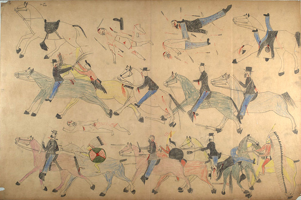 The Battle of Little Bighorn An Eyewitness Account by the Lakota Chief Red Horse  recorded in pictographs and text at the Cheyenne River Reservation, 1881