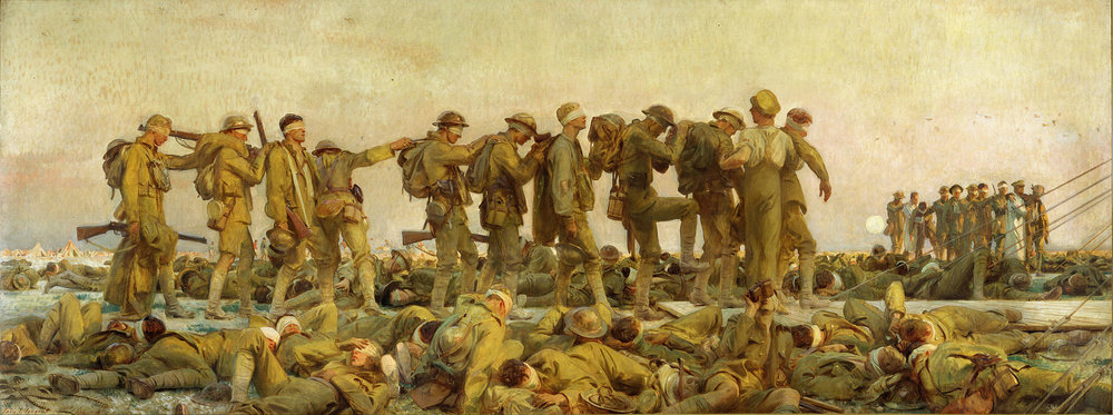 John Singer Sargent. Gassed, 1918. The Imperial War Museum, London