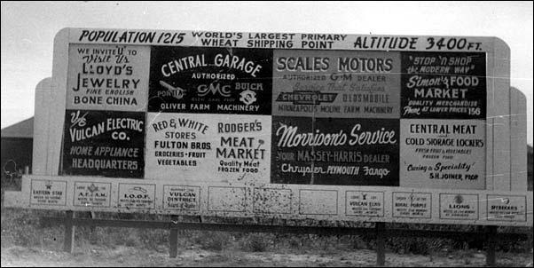 Entering Vulcan, Alberta, 1954