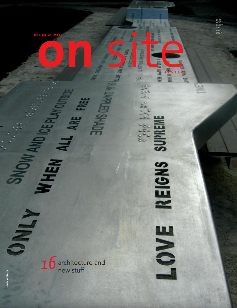 on site 16: new work