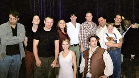 Ben (left) with the cast of  Eternity: Time Without End