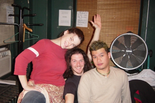 Our Nurse, Mercurio, and Capulet backstage at Theatre-Studio, Inc.