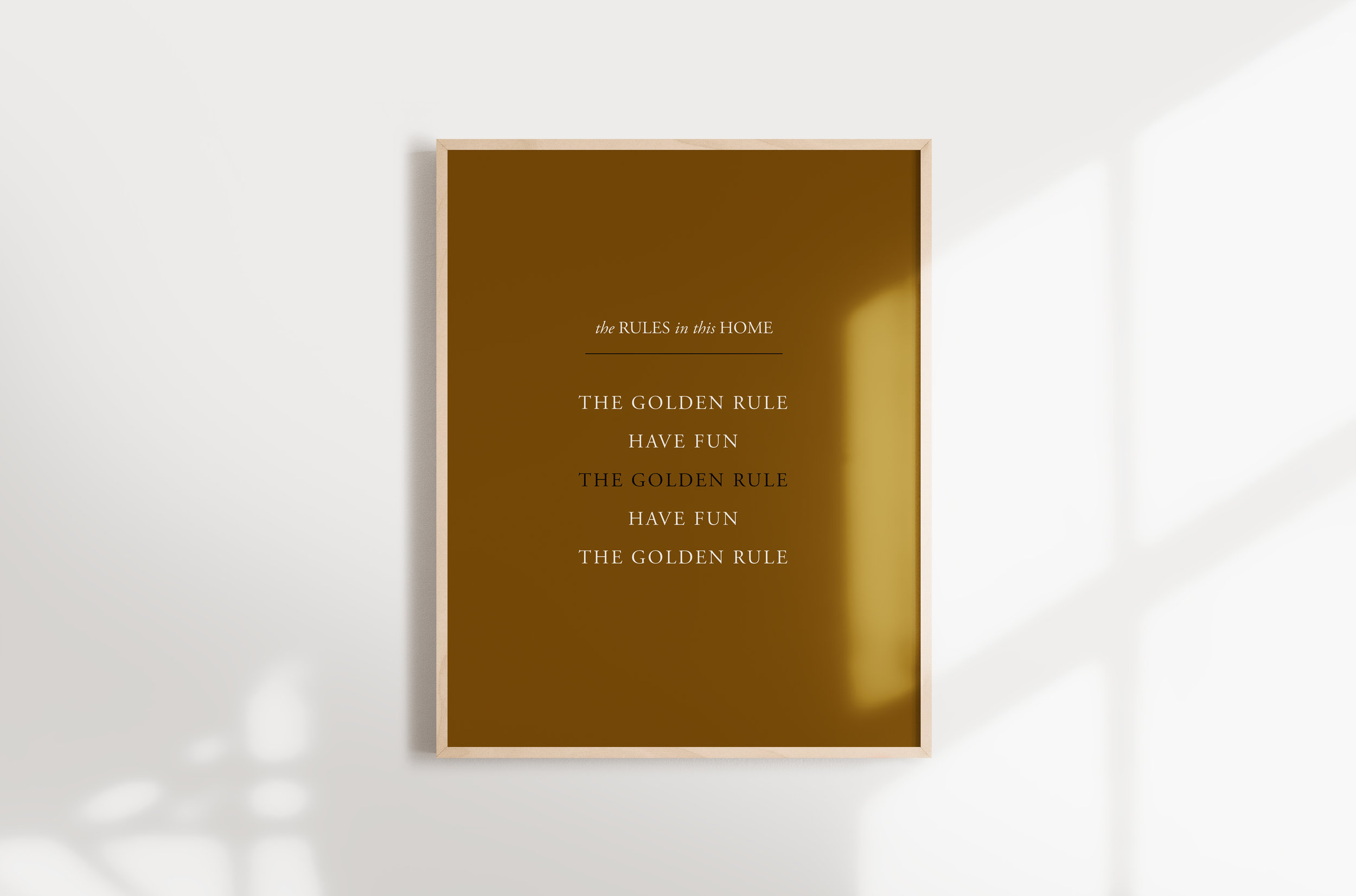 photograph relating to Golden Rule Printable named Store Printables THE CURATED CASA