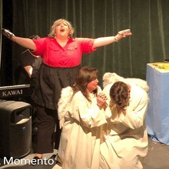 Thank you all for a sold out run of Bon Operatit starring Elizabeth Birger as Paula Deen & Ashley Wheat and Michael Austin as the Angels!  @erbdiva @lyricwheat @maustin224 @opera180kc #opera #bonappetit #pauladeen #bonoperatitkc #food #krispykreme #butter