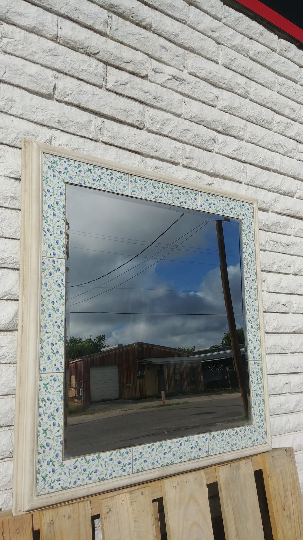 Rustic Farmhouse tile inlay mirror