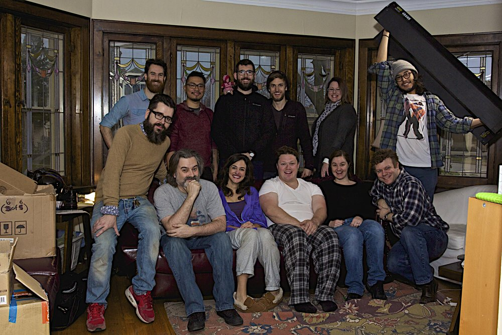 The crew and cast, Day 14 of production.