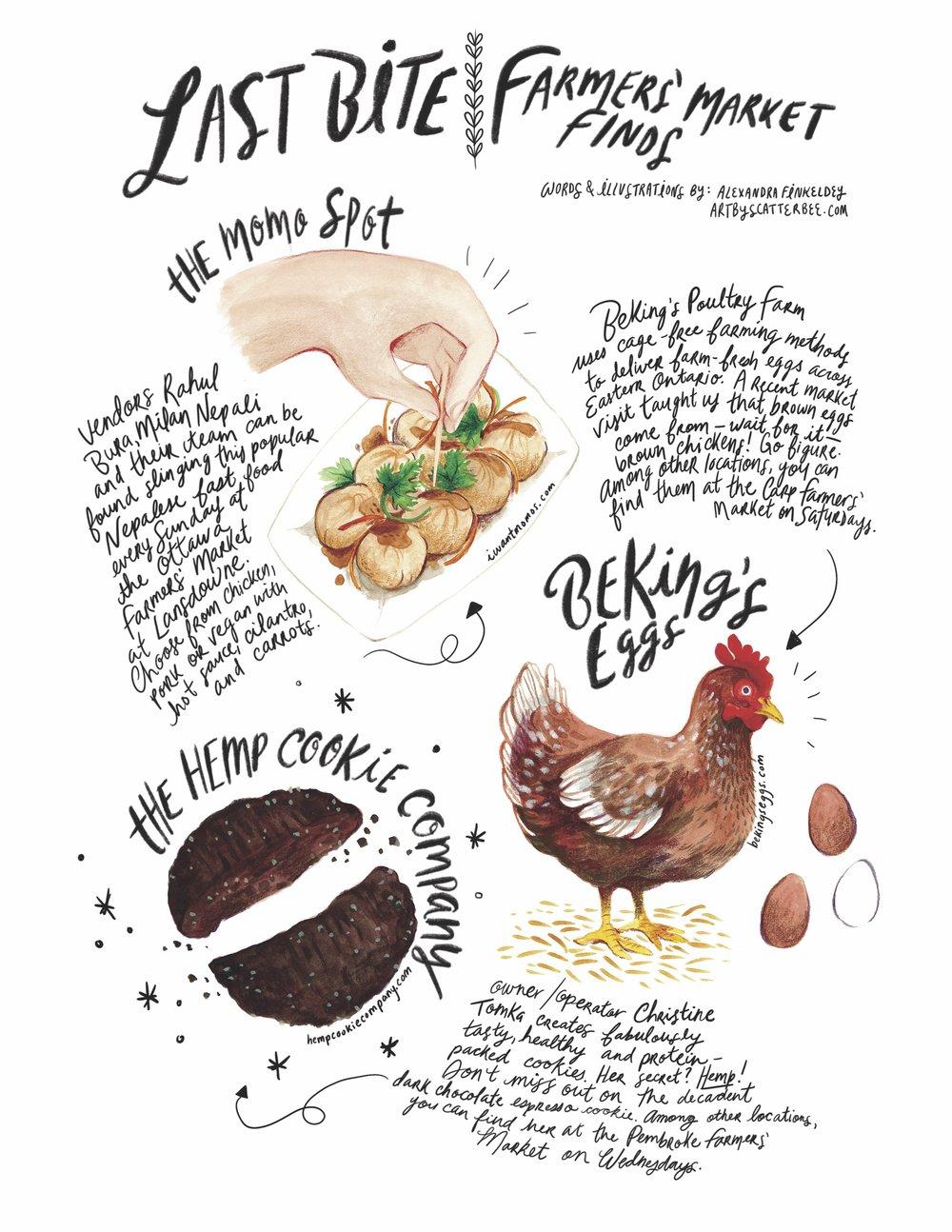 Edible Ottawa  // Editorial Illustration, Printed 2018 & 2019