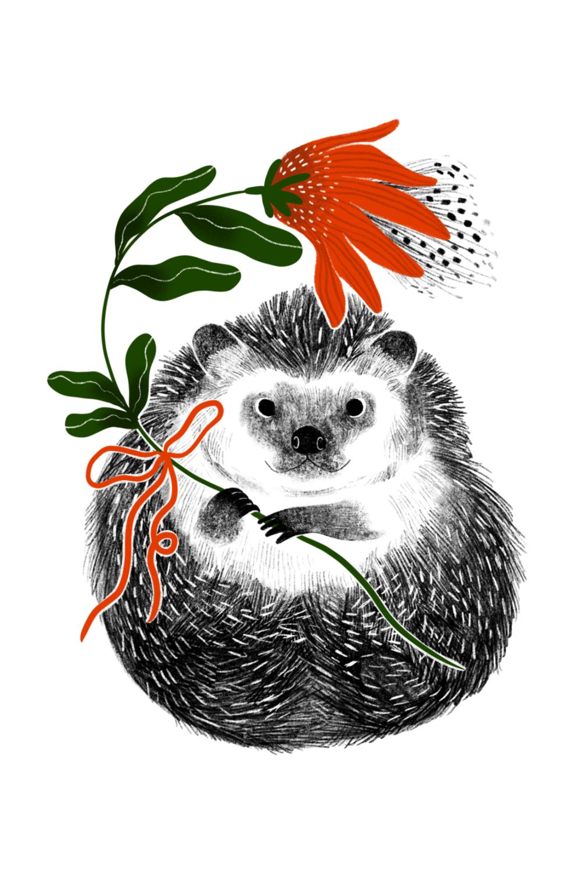 A Flower for You // Digital Illustration, 2019