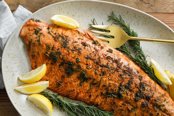 Salmon with Lemon-Herb Marinade
