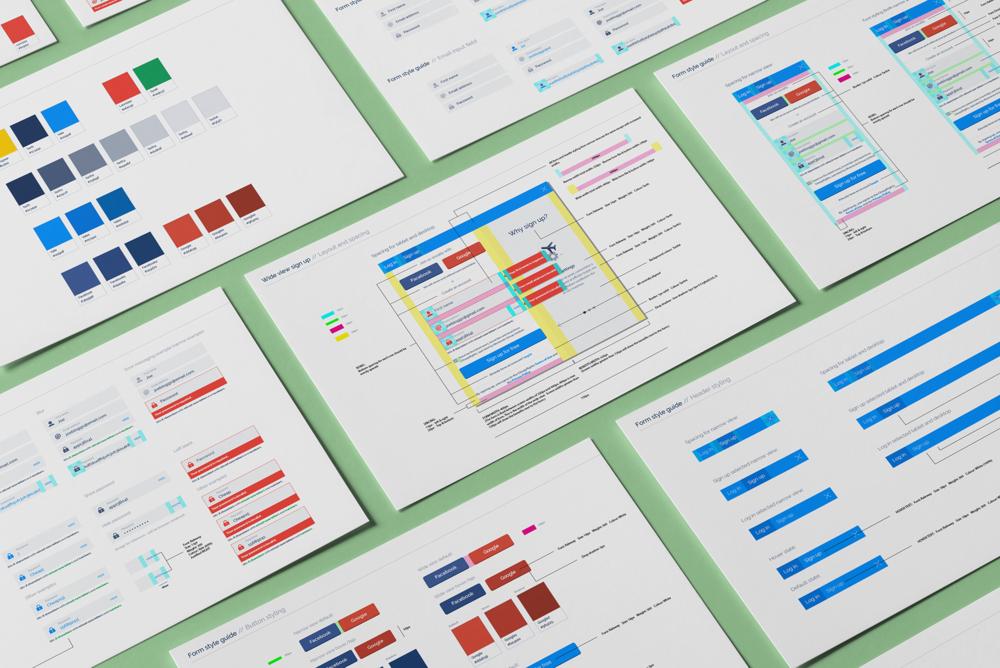 Form guidelines for development (pre rebrand and including UI design)