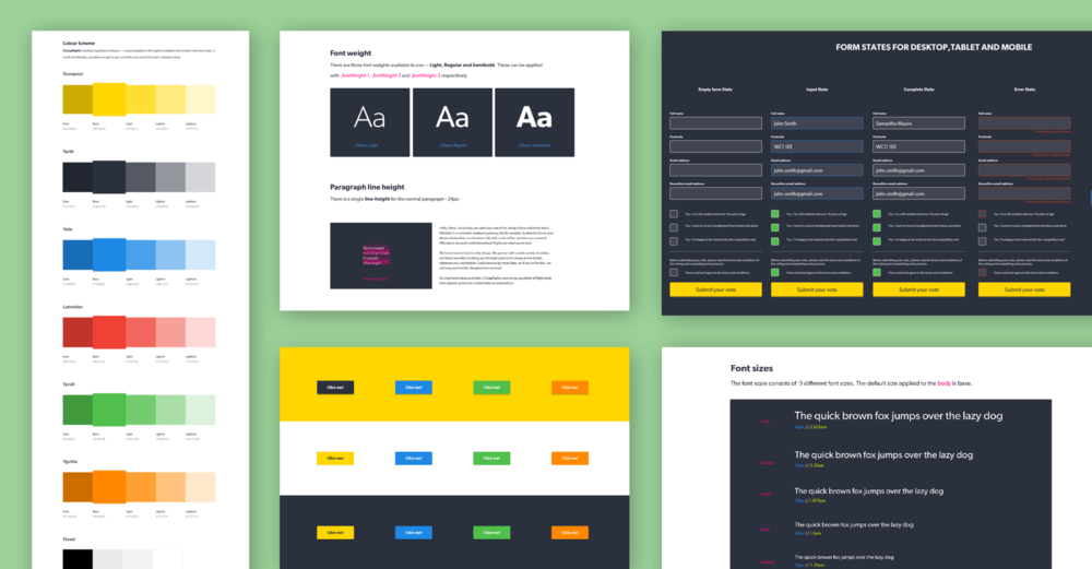 Visual Design System - Forms were tested for the campaign and new colour themes requested which were added to the component library