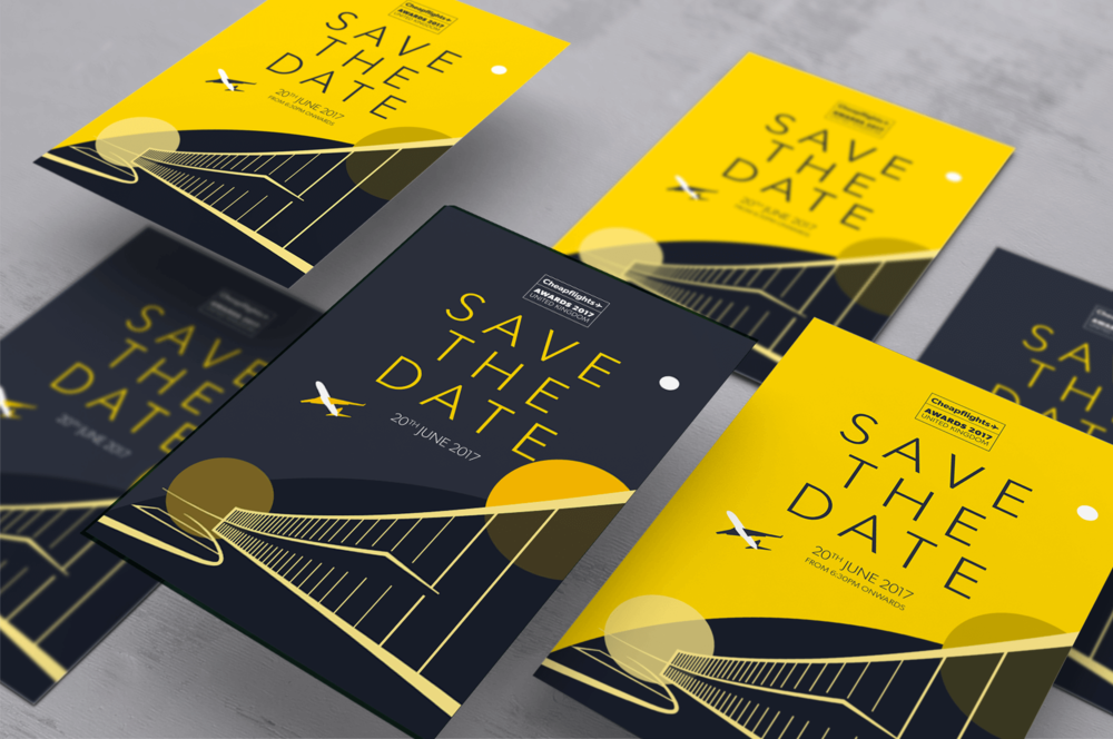 E-Invites for the UK Awards using new graphics created in-house to support the sub-brand.