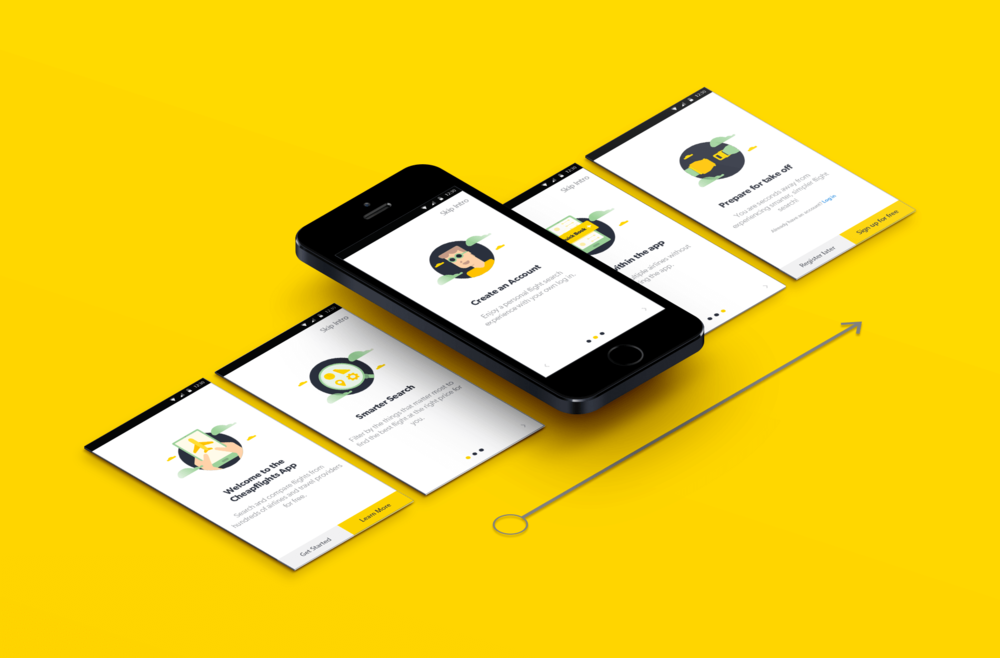 Application of new illustration on the app as part of the rebrand
