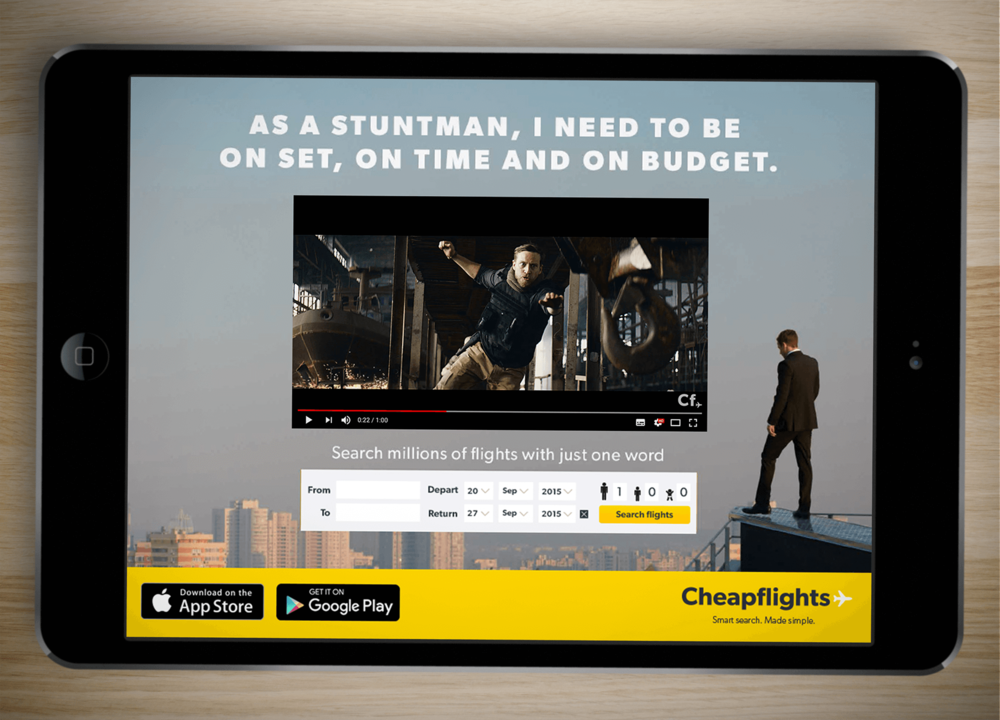 Example of one of the Guardian expandable digital adverts