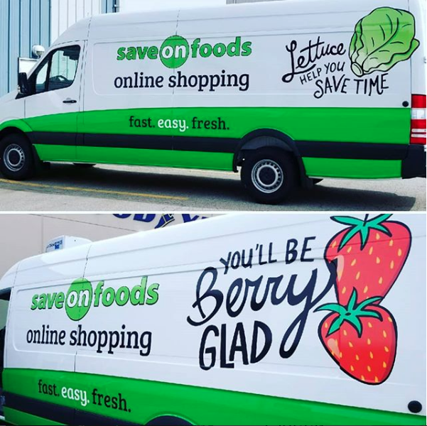 Save on foods car wrap