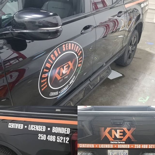 KNEX Electrical Services - looking for electrical help in the Okanagan? He's your guy! Now his truck is ready to do some advertising for him.  #worktruck #wrapadmedia #vinyl #vinylwrap #vancouver #vernon #kelowna
