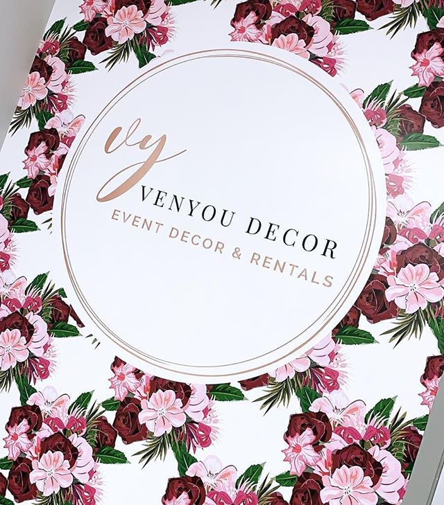 Wedding decor shop vibes. We don't just wrap cars! Give your workspace some personality. Thanks Venyou Decor! Check her out for your next special event! @venyoudecor  #vinyl #vinylwrap #weddingdecor #eventdecor #wallwrap #branding #vancity #wrapadmedia