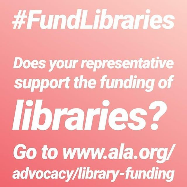 Please Share #FundLibraries  We have to support our libraries. To not, is classist. Think about all the people that cannot afford internet, all the families that need a safe place to be where they don't have to buy something, think about all the books, movies, programs. To cut library funding would cut so many possibilities.  #thelibraryhop #library #advocacy #callyourrepresentatives #doyourpart #thinkaboutthebigpicture #itisactuallyatinypercentofthebudget #landofpossibilities