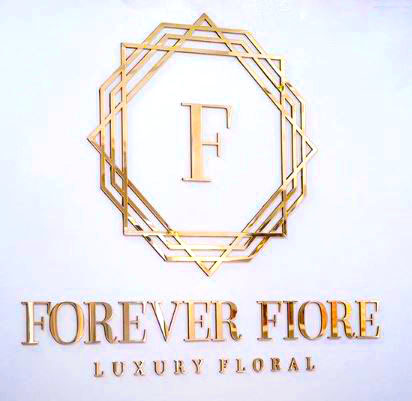 The final installed mirror logo sign for  Forever Fiore , in FLorida.