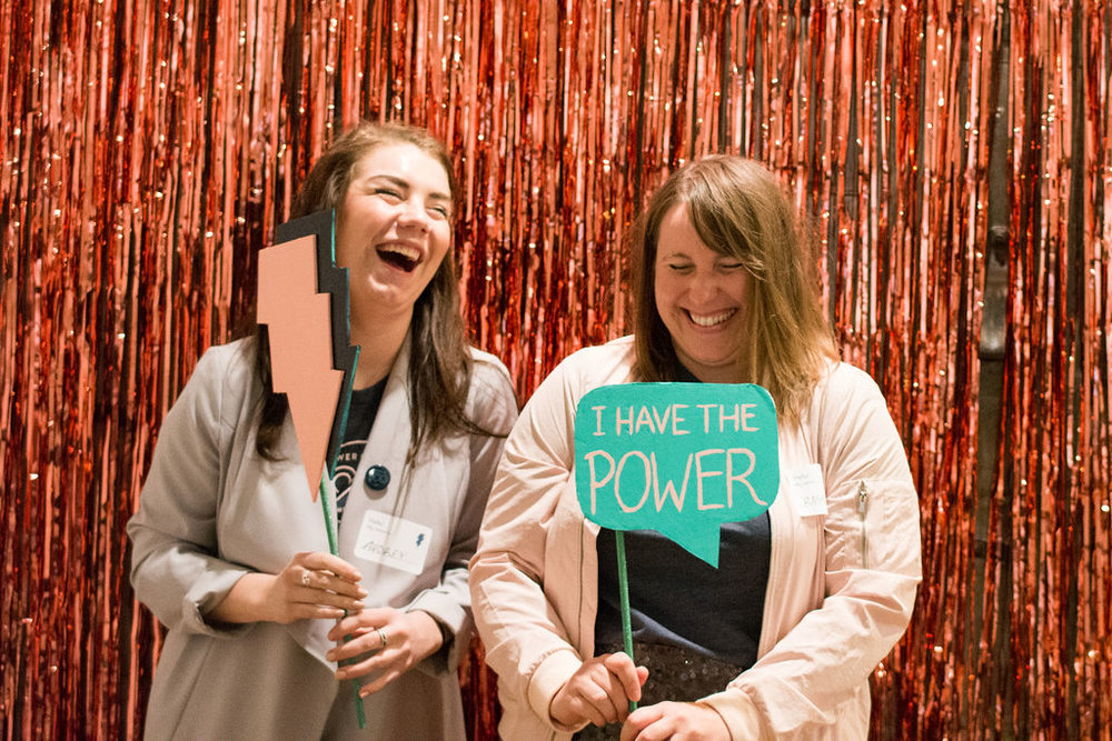 Audrey Campbell and Rose Daniels of Rose & Co. Design styled Pitchfest and sponsored the photo booth.