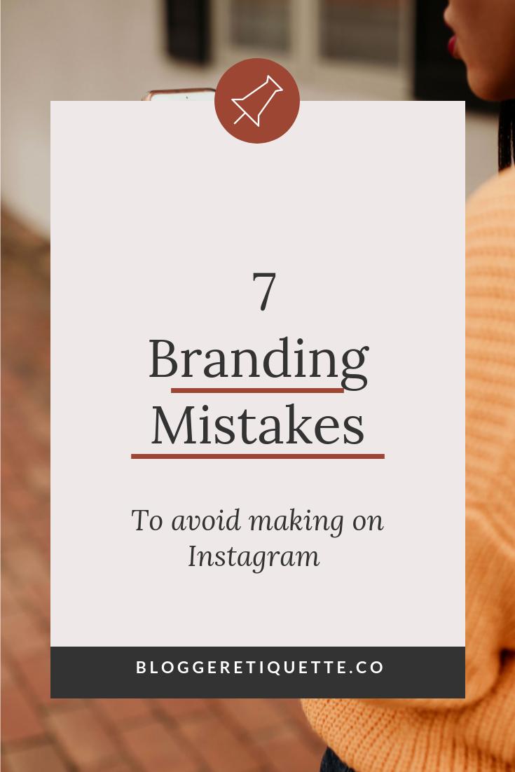 Social Media Brand Strategy: 7 Branding Mistakes to Avoid On Instagram