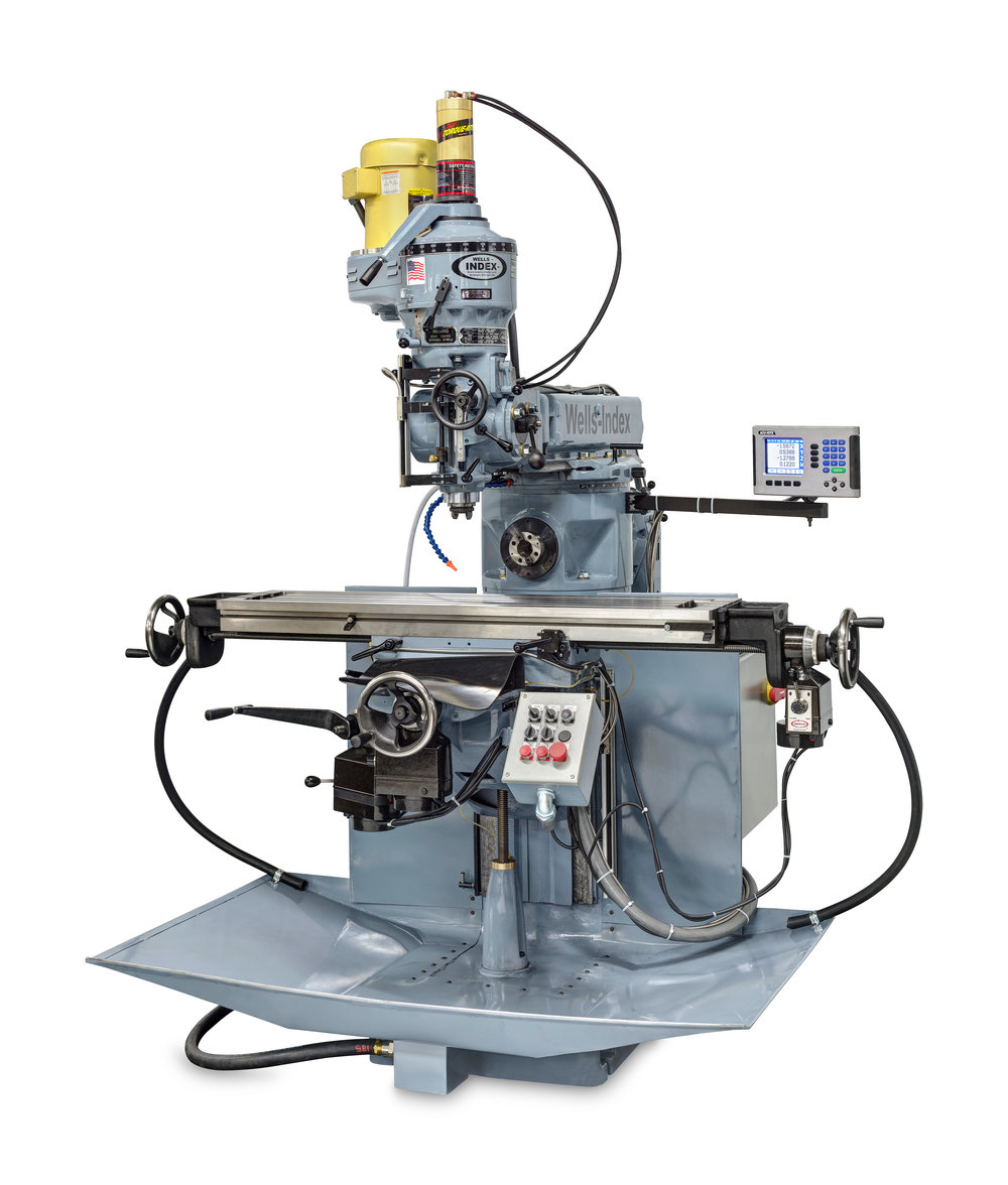Model 860C Manual Milling Machine with Special electrics 4 axis Acurite DRO - Hoover Dam