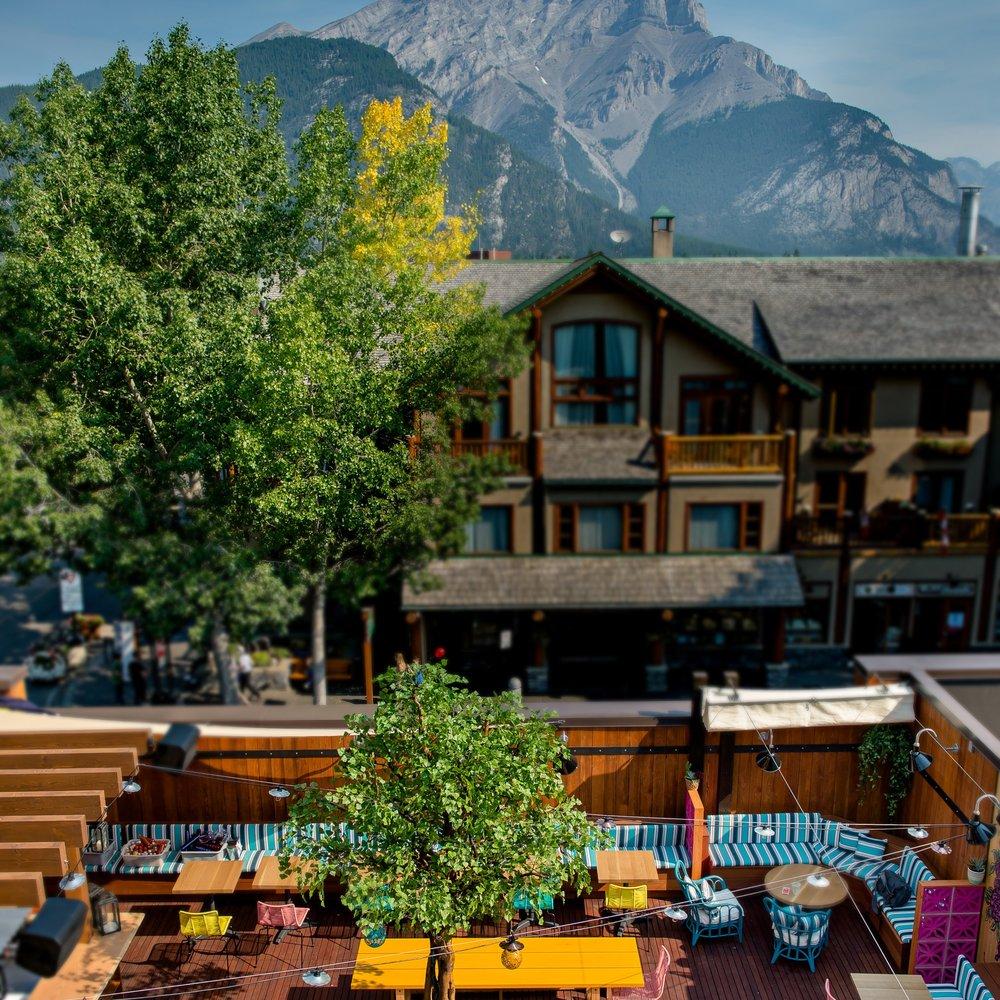 El Patio Banff's rooftop taco patio bar