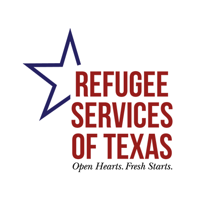 Support and Partnership with Texas' largest Refugee Organization, Refugee Services of Texas