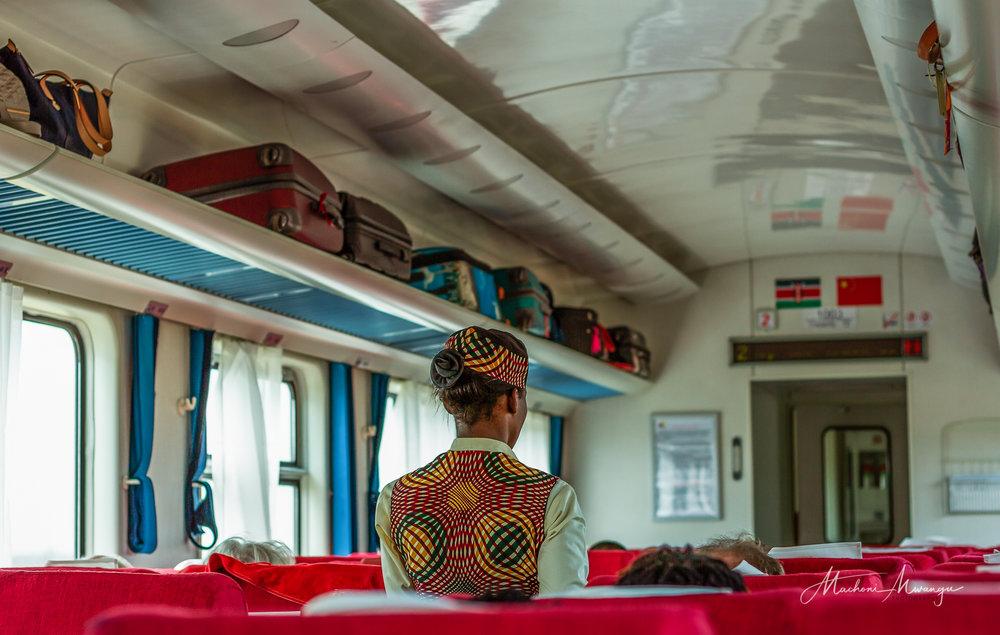 Service inside coach 2