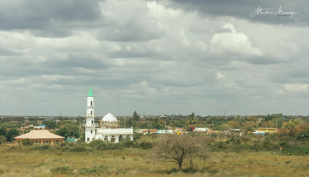 The Mosque under construction