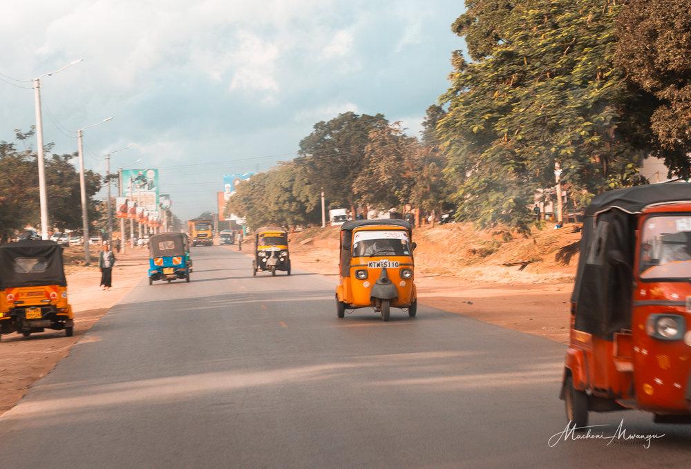 Colorful Tuk Tuks in Ukunda