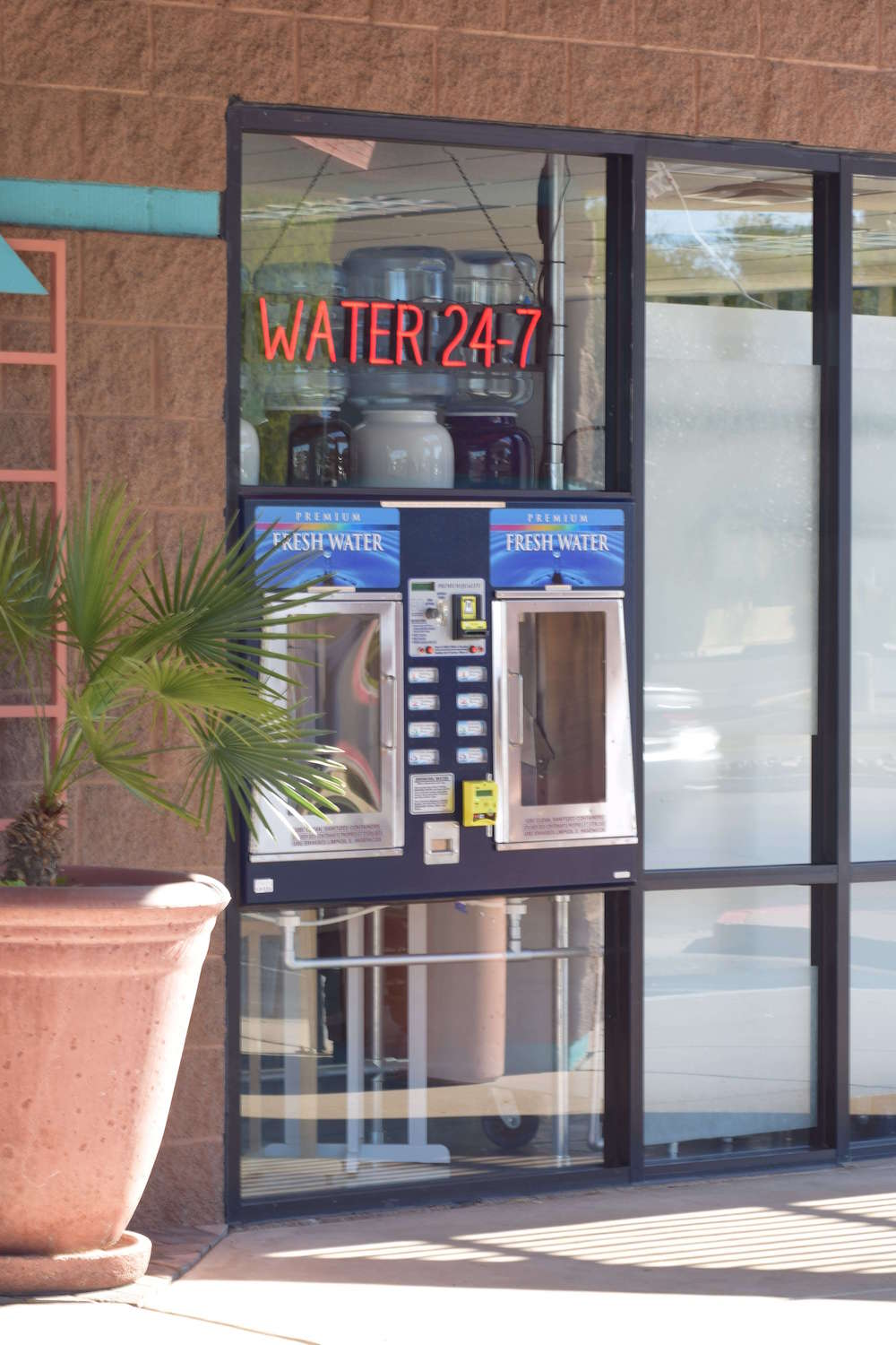 water24-7 - Our water dispenser can be used whenever you'd like, at any time of the day. You can get our great-tasting water even when were not open!