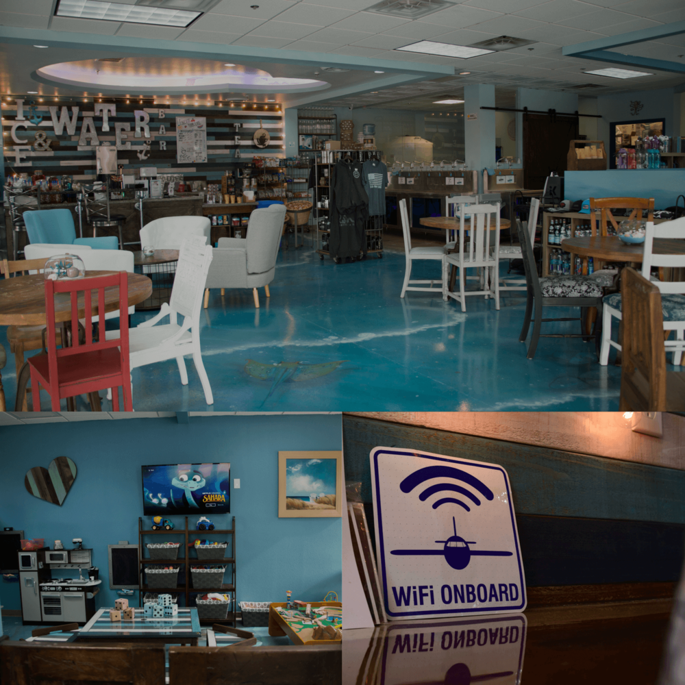 More Than Just Water - We are so unique because we offer more than just amazing tasting water. Our shop has free Wi-Fi, a cozy seating area with plenty of room, and a kid-friendly area for children to play and stay busy.