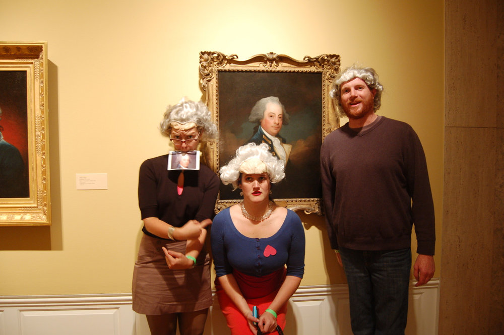 One of Us. Or, for a temporary relationship, guests could wear a wig of their favorite painting subject. See all of the photos   here