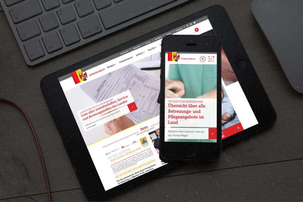 contemas ist auf Onlinemarketing und Digitallösungen spezialisiert, wie z.B. die Landesseite für Burgenland.at.  (c) contemas