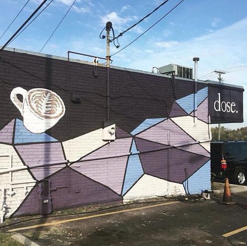 Dose Cafe (Westend) Mural & Logo