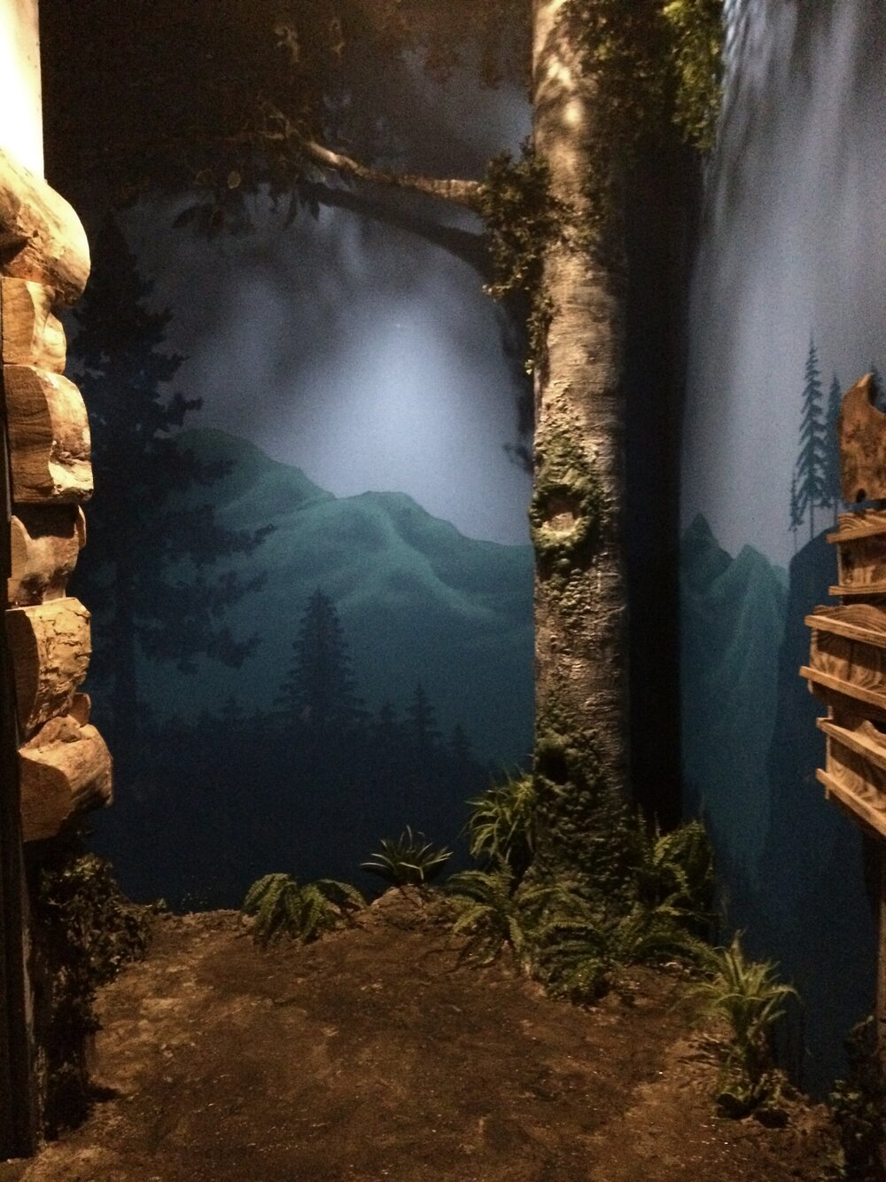 "Sculpted Tree & Mural for ""Gold Rush"" Room/ Escape Game Dallas"