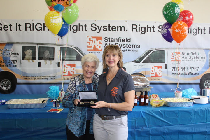 We were so honored to have Athens Mayor Nancy Denson join us, and she surprised Sally Stanfield Allen with the Key to the City! What an honor!