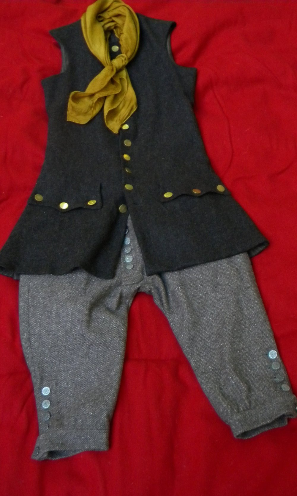 18th century waistcoast with wool knee breeches