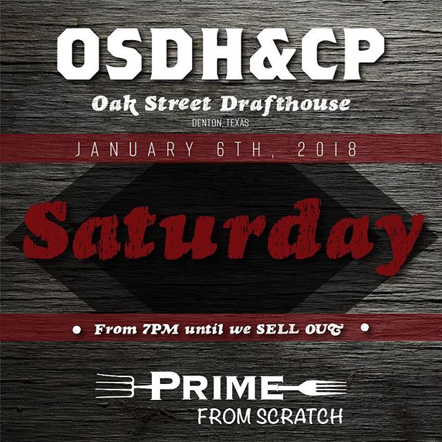 Catch us out this Saturday after 7 at Oak St. Drafthouse in Denton! #denton #foodtruck #dentonfood #dentonfoodtrucks #oak #oakst #oakstreet #drafthouse #food #truck #osdh #osdhcp #delicious #foodstagram @oakstdrafthouse