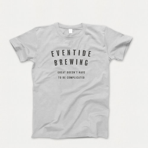 bd9f8a9a1188 Eventide block letter shirt- available in 2 colors — Eventide Brewing