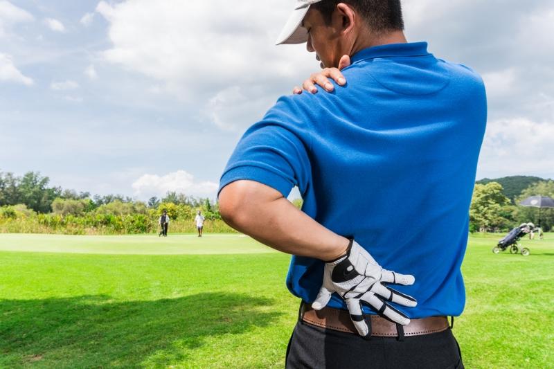 Golfer w/ back pain