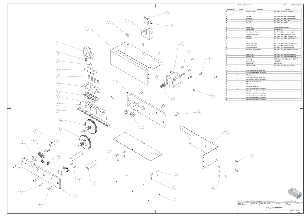 cad draughting - If you have a great product, but need a set of drawings to back it up; Blue Whale Design can provide a comprehensive catalogue of detailed technical drawings for use in development and manufacture.