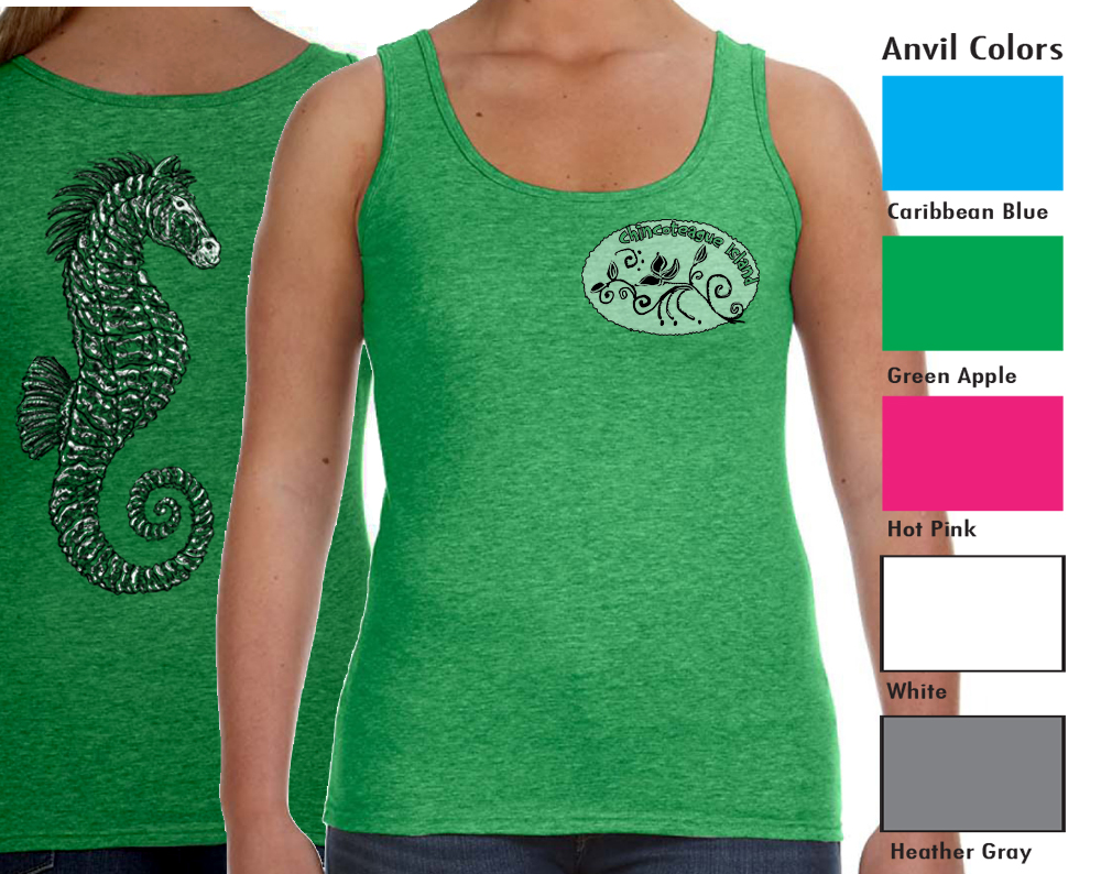 Anvil 882L Women's Tank  SM-XL 9.00   XXL 11.00  Anvil® Women's 4.5 Ounce Lightweight Tank. Semi-fitted contoured silhouette with side seam. Bound rib trim neck and armholes. Double needle bottom hem. TearAway label. 4.5 ounce, 100% pre-shrunk combed ring spun cotton.