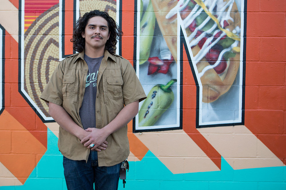 We met Marcos in Miller's Surplus while we were getting permission to paint, and he suggested we paint a Sonoran-style hot dog which is a staple in Tucson!