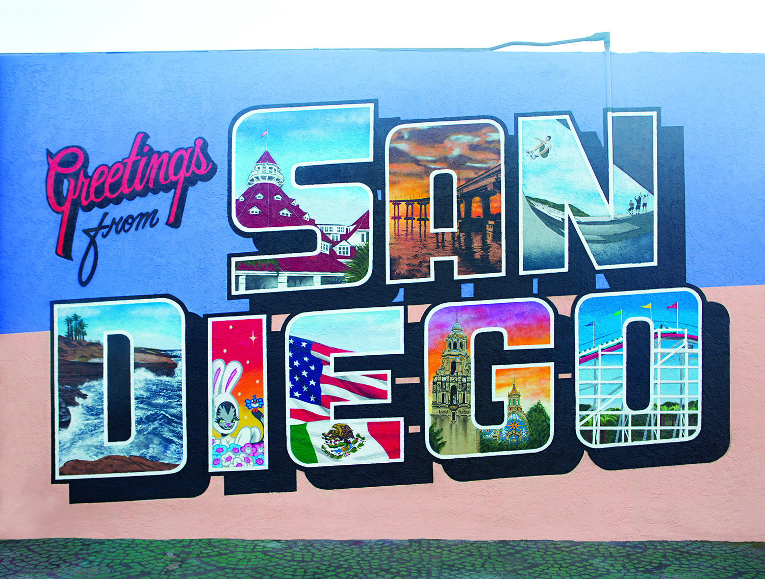 Greetings Tour Us Postcard Mural Artists Traveling In Rv