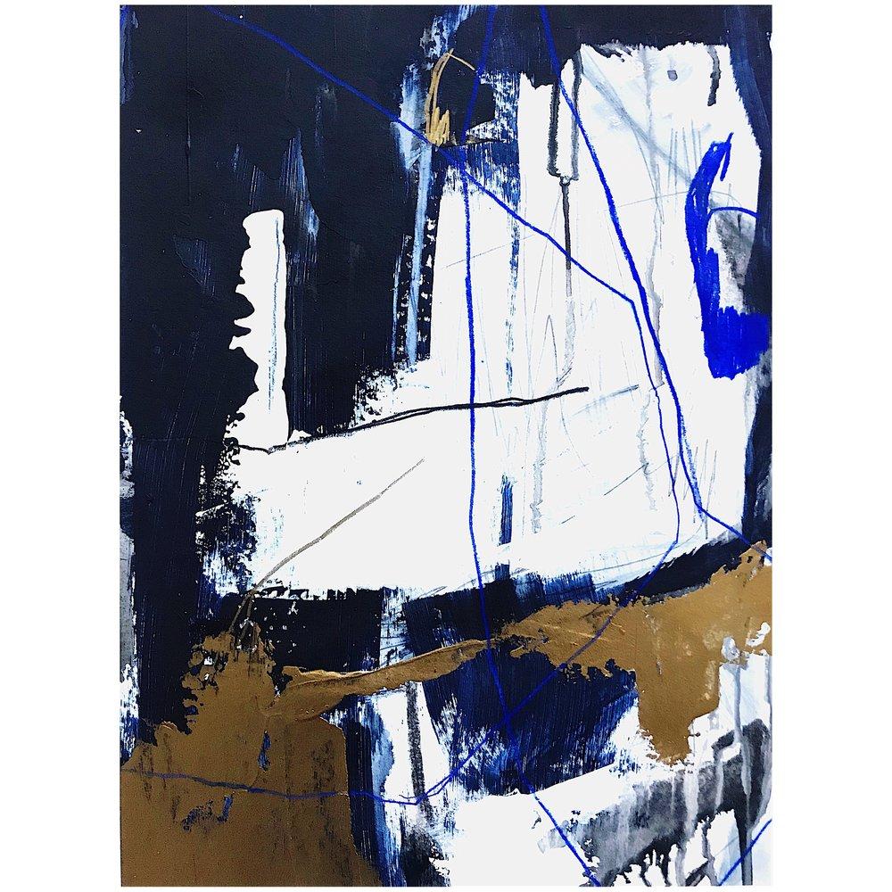 Ewa Matyja  Untitled   Mixed Media On Paper 35 x 50 cm