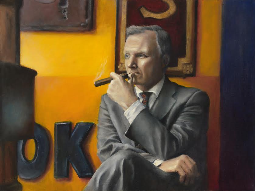 Ed At The Cigar Shop    Oil  18 x 24